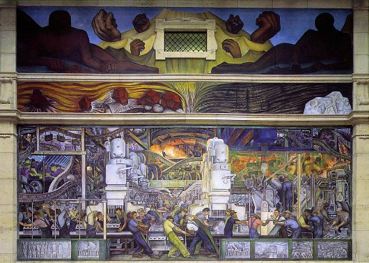 Diego rivera biography 1886 1957 life of mexican artist for Diego rivera detroit mural