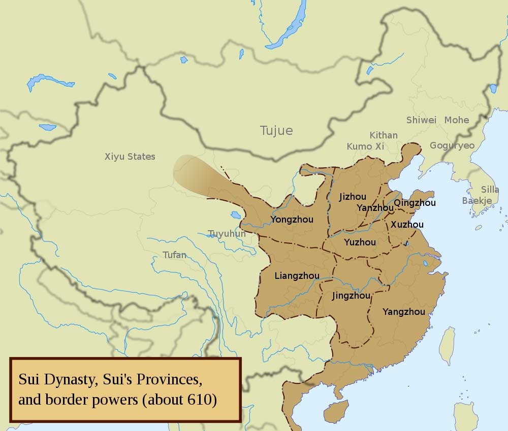Sui dynasty 581 618 chinese history imperial china facts photo sciox Image collections
