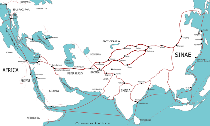 What is the Silk Road of Ancient China – Road Route Map