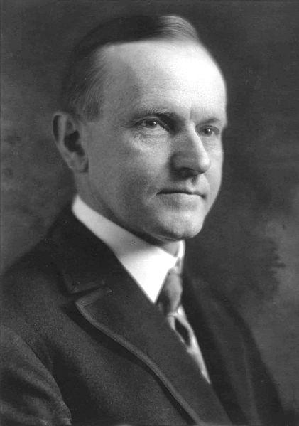 Life Portrait of Calvin Coolidge