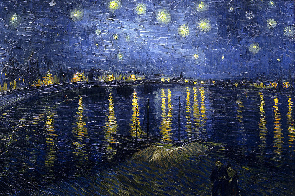 starry night over the rhone by vincent van gogh facts. Black Bedroom Furniture Sets. Home Design Ideas