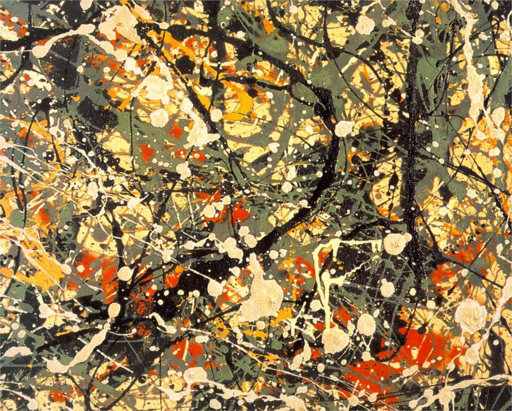 Jackson pollock paintings artwork gallery in for Mural pollock