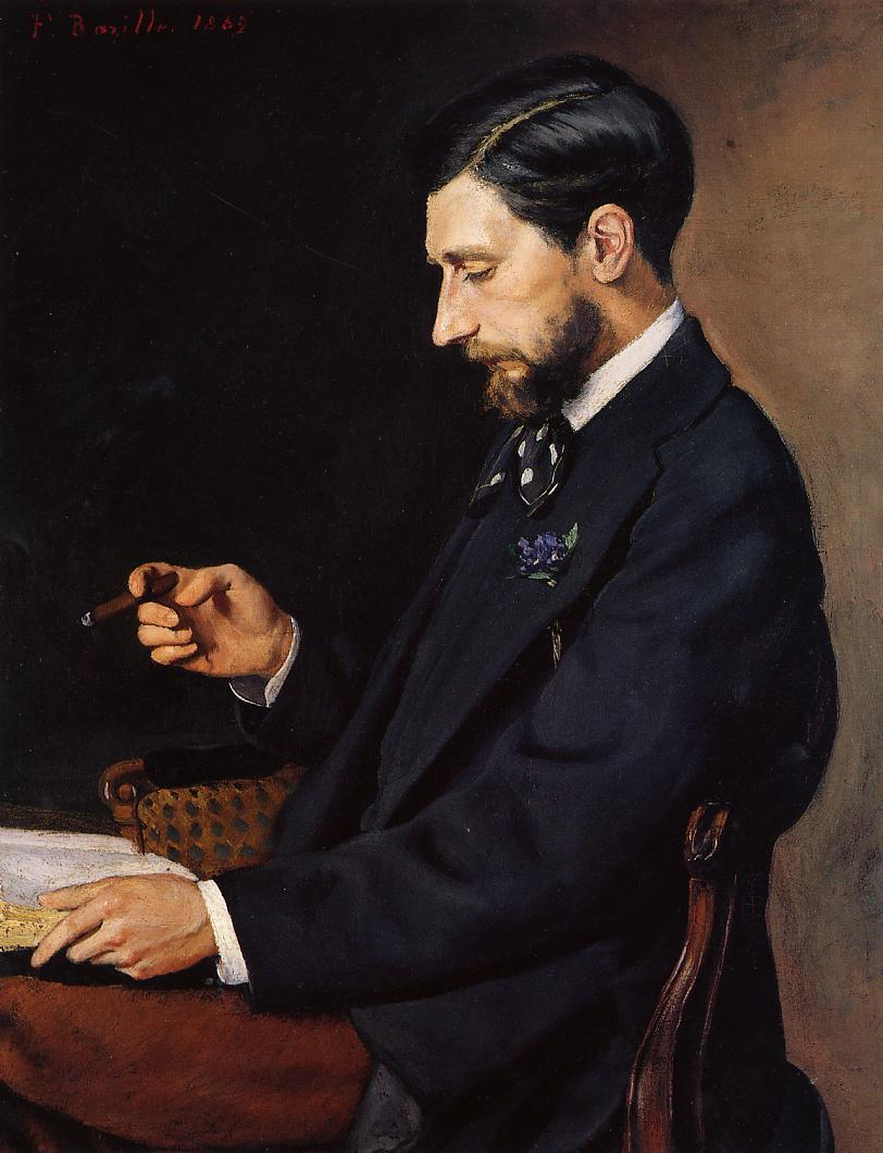 Fr d ric bazille paintings artwork gallery in for What is a maitre d