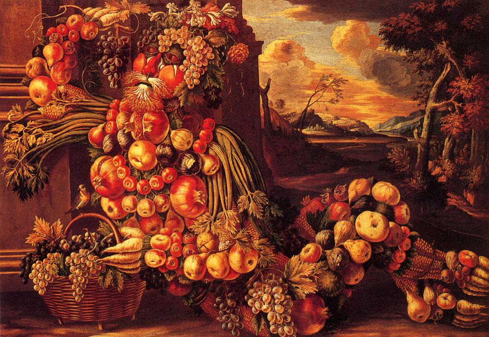 Giuseppe Arcimboldo - Page 4 Seated-figure-of-summer-15731-by-Giuseppe-Arcimboldo