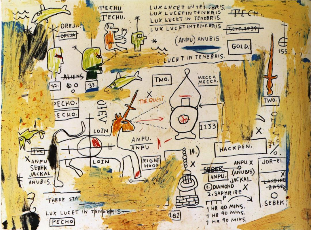 Jean Michel Basquiat Paintings Gallery In Chronological Order