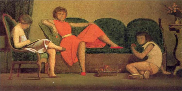 Balthus paintings artwork gallery in chronological order for Balthus alice dans le miroir