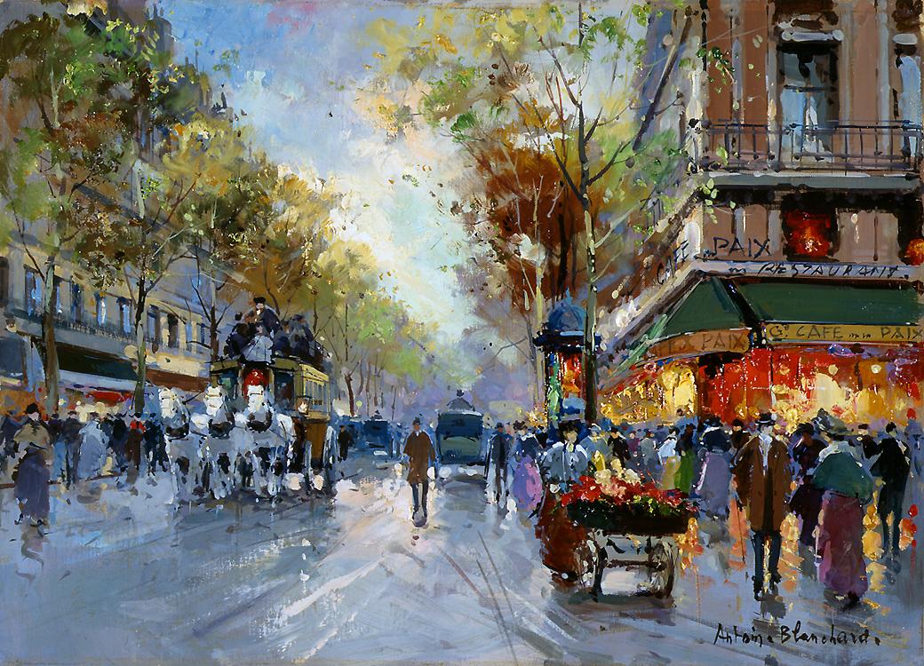 Caf Ef Bf Bd De L Avenue  Boulevard Haussmann  Paris