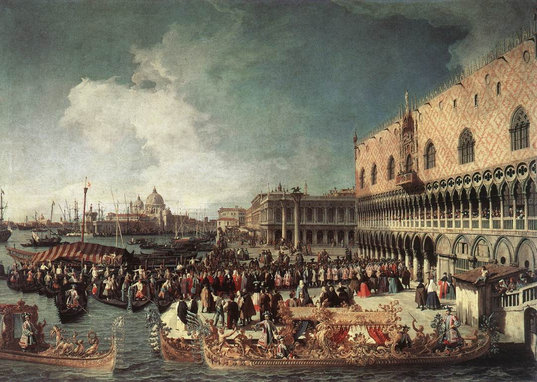 reception-of-the-ambassador-in-the-doge-s-palace-1730 by Canaletto
