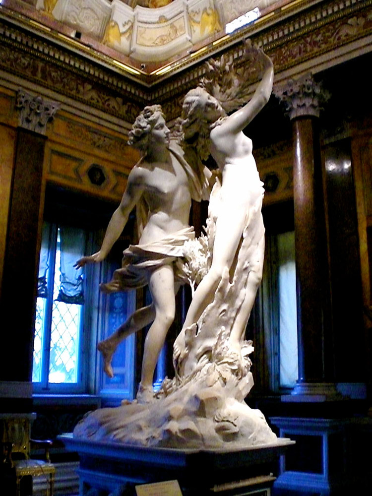 sculpture d'apollon et daphne