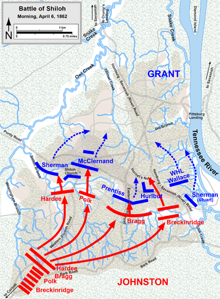 an overview of the infamous battle of shiloh in 1862 The battle of shiloh the battle of shiloh the battle of shiloh began on april 6, 1862 federal forces led by general johnston were marching towards corinth, mississippi.