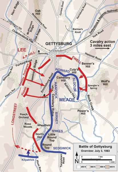 battle of gettysburg short summary