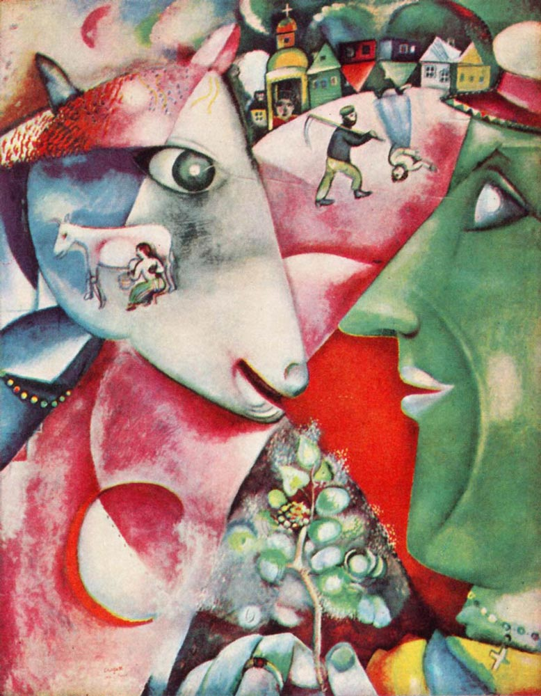 I and the Village by Marc Chagall - Facts & History of the ... Chagall Schilderijen