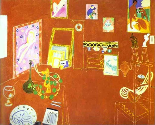 L&#039;Atelier-Rouge-(by-Henri-Matisse)