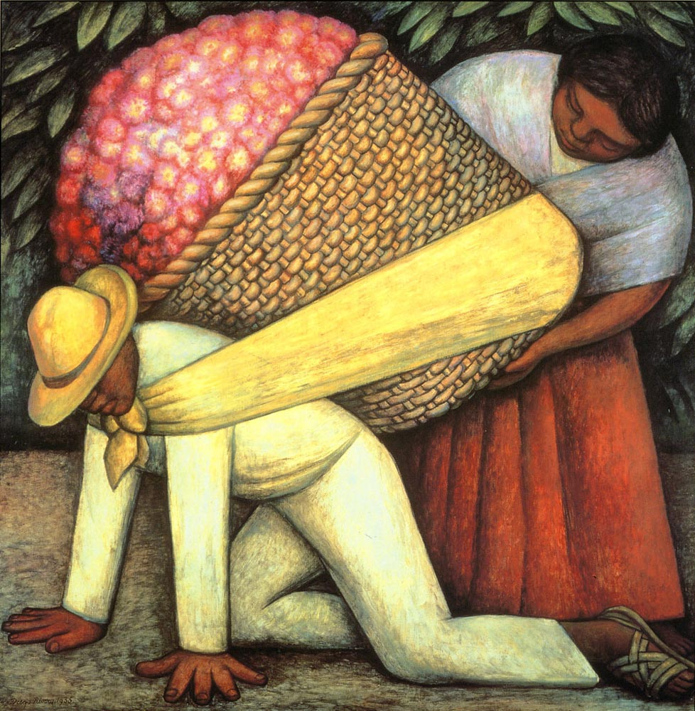 The Flower Carrier by Diego Rivera – Facts about the Painting