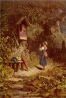 praying-peasant-girl-in-the-woods.j-by-carl-m