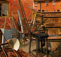 the-blacksmith-s-yard-cookham-1932-by-spencer-sm