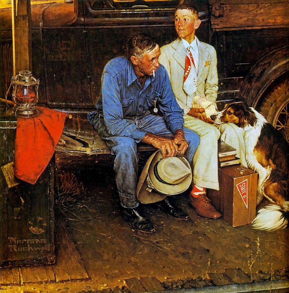 Breaking-Home-Ties-(by-Norman-Rockwell)