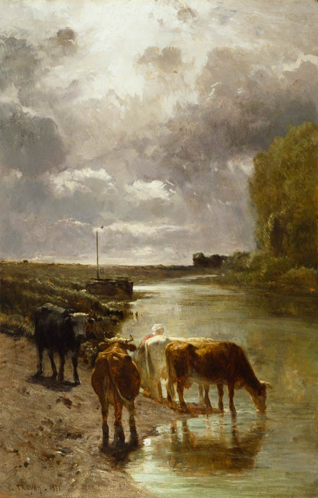 Constant_Troyon_Cattle_Drinking