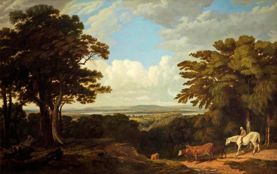 Newnham-on-Severn_from_Dean_Hill_-_William_Turner_of_Oxford