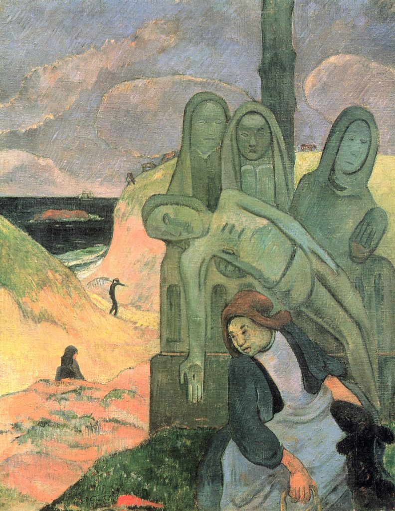 Paul_Gauguin_green_christ