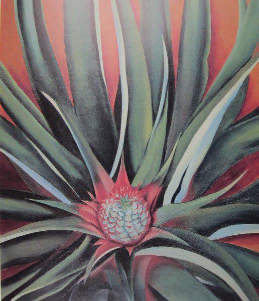 Pineapple-Bud-(by-Georgia-O'Keeffe)