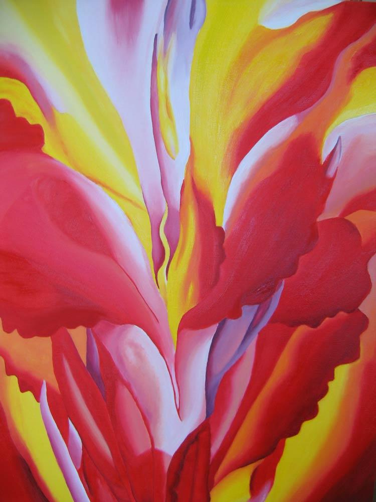 Red-Canna-(by-Georgia-O'Keeffe)