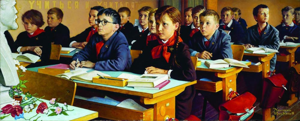 norman_rockwell_russian_schoolroom_1976