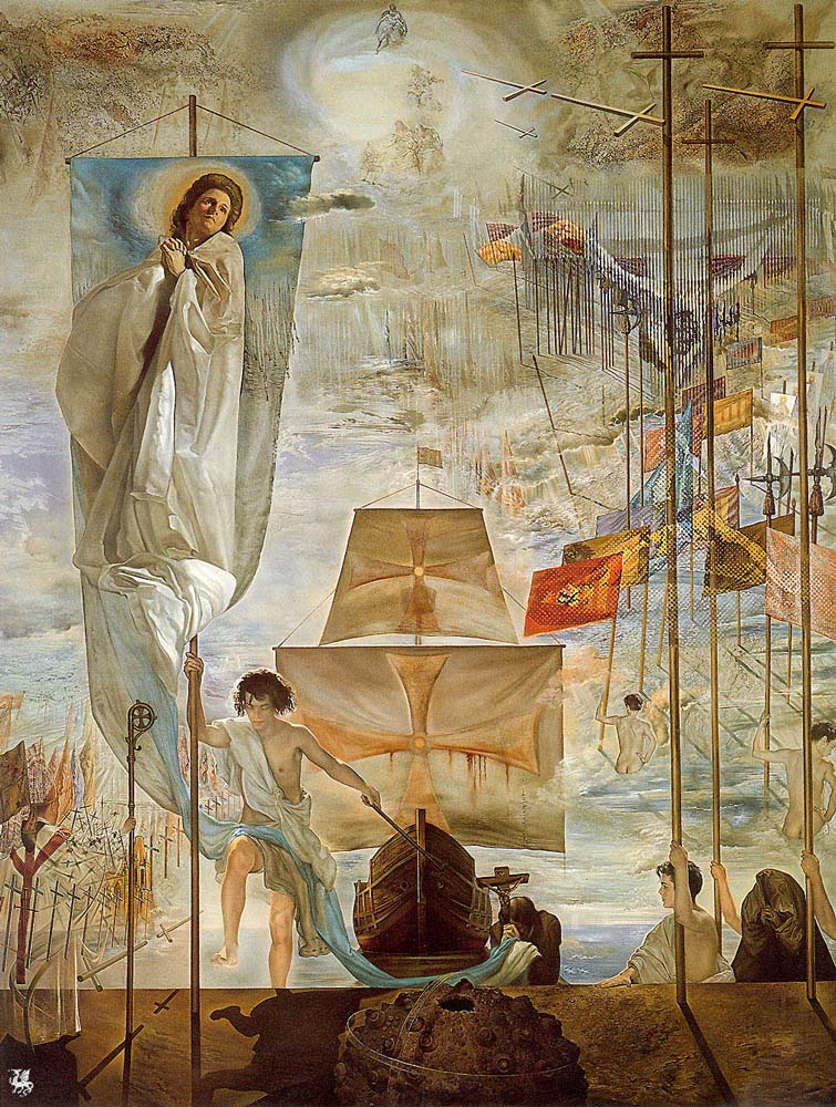 the discovery of america by christopher columbus by salvador dali artist salvador dali