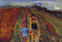 two-children-on-a-road-1-by-chaim-sm