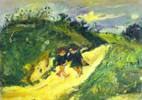 two-children-on-a-road-by-chaim-sm