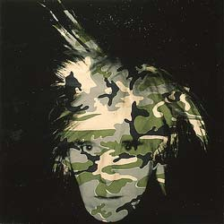 camouflage self portrait by andy warhol facts about the artwork. Black Bedroom Furniture Sets. Home Design Ideas