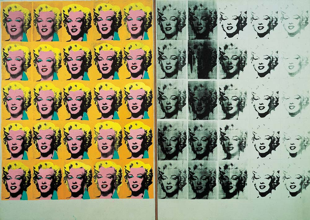 marilyn diptych by andy warhol facts history of the. Black Bedroom Furniture Sets. Home Design Ideas