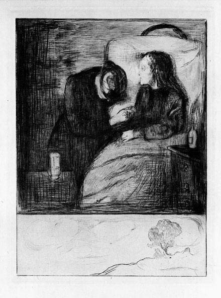 Munch_The_Sick_Child_1894_Etching