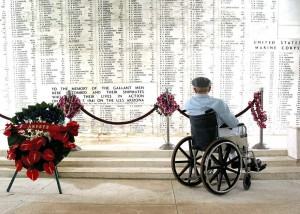 1280px-US_Navy_040120-N-0879R-009_Pearl_Harbor_survivor_Bill_Johnson_stares_at_the_list_of_names_inscribed_in_the_USS_Arizona_Memorial