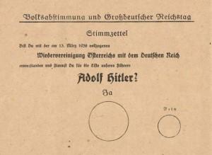 Anschluss-ballot