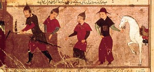 Genghis Khan and three of his four sons 300x141