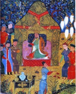 Genghis Khans enthronement in 1206 244x300