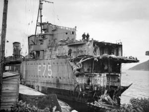 HMSEskimoBowTorpedoDamageMay1940