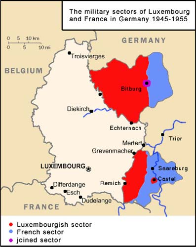 German Occupation Of Luxembourg In World War II May - Germany map world war 2
