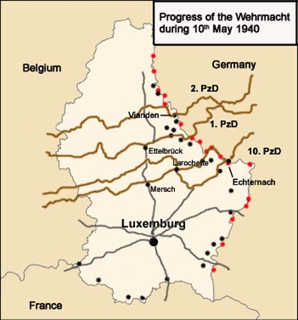 Map Of Germany Luxembourg Belgium.German Occupation Of Luxembourg In World War Ii May 10 1940