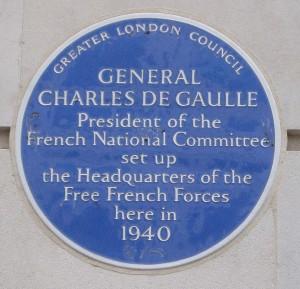 De-Gaulle-Plaque