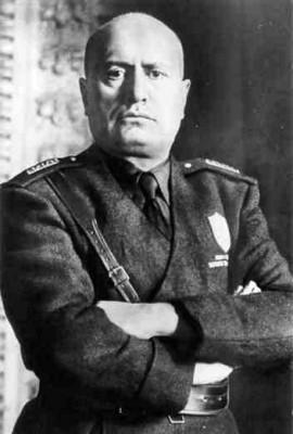Mussolini-Portrait