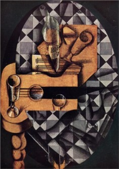 guitar-bottle-and-glass-1914 by Juan Gris