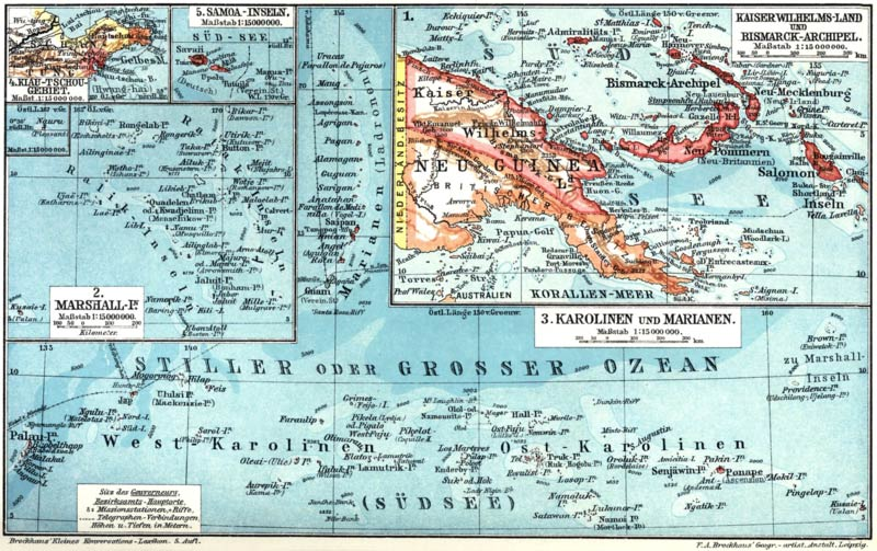 Map Of Germany 1919.German New Guinea Pacific Colony Of Germany From 1884 1919