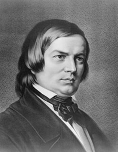 Portrait of German Music Composer Robert Schumann